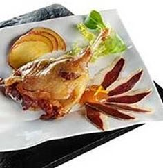 Muslo de pato con salsa de manzana