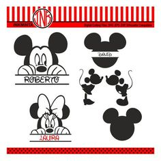 Mickey Mouse SVG File Mickey Mouse Monogram Minnie by inkminta