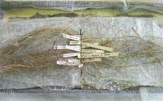 Abscondite by Stéphanie Devaux   Textus: Livre d'artiste    textile, papier, métal, couture, collage #artists_book