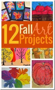 12 Beautiful Fall Art Projects for kids - so many great ideas (crafts for kids, preschool, kindergarten, 1st grade, 2nd grade, 3rd grade,)