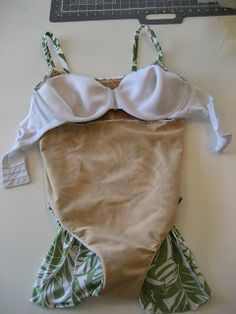 Sewing a bra into your swimsuit