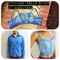 Jeansshirt to top - no tutorial