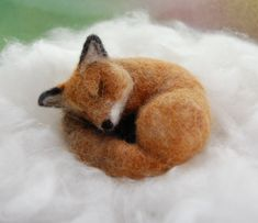 Needle Felted Fox. Red Fox Miniature. Woodland Fox. by ElisaShine