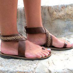 95f80e86040 Popkeep Women s shoes Open Toe Flat Heel Brown Casual shoes – POPKEEP