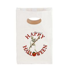 #Halloween Skeleton Canvas Lunch Tote