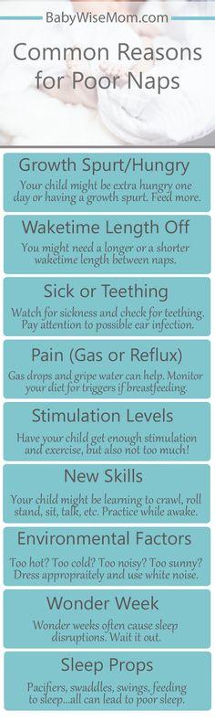 Common reasons for poor sleep.