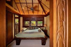 Hawaiian Bedroom Decor one of us dreams of having our own sanctuaries at home and there is no other special room in the house to build one t. Hawaiian Bedroom, Hawaiian Home Decor, Hawaiian Homes, Tropical Home Decor, Tropical Houses, Cottage Design, House Design, Tropical Bedrooms, Exotic Bedrooms