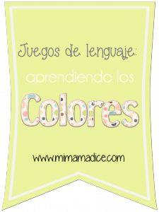 Juegos de lenguaje: Aprendiendo los colores