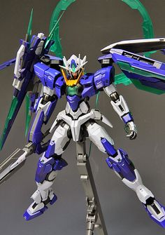GUNDAM GUY: MG 1/100 GNT-0000 00 Qan[T] Ver. First Color [MetalBuild St.] - Customized Build