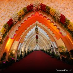 Best Wedding Planner and Decorator in India Red Wedding Receptions, Wedding Stage Decorations, Balloon Decorations, Gate Decoration, Entrance Decor, Best Wedding Planner, Wedding Planning, Event Planning, Wedding Design Inspiration