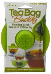 The Tea Bag Buddy is an innovative new item that creates a solution to the tea drinker's most common problems. It provides a convenient way to secure the tea bag string while covering the mouth of a tea pot or mug, trapping steam to keep tea hotter when brewing for optimal flavor and temperature.
