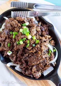 Bulgogi (Korean Beef BBQ) recipe that is delicious and authentic. My #1 recipe on my blog for many years. Awesome with rice and can be used in many other Korean recipes. #koreanrecipes #koreanfood #koreanbbq #bulgogi #kimchimari Korean Beef, Korean Food, Chinese Food, Korean Bulgogi, Korean Chicken, Barbacoa, Honey Recipes, Korean Recipes, Meat Recipes