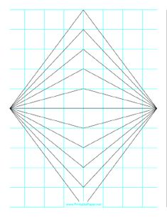 This Perspective Grid Paper Is Formatted With Two Points And