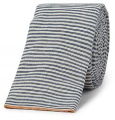 Striped Cotton Chambray Selvedge Tie. The Hill-Side.