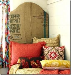 DIY Boho Bedroom (For Cheap!)    Love the richness in texture and colour.