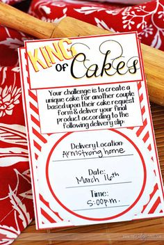 King of Cakes Date - such a fun idea!