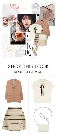 """officially missing you"" by pit-a-pat ❤ liked on Polyvore featuring Folio, MANGO, Monki, MSGM, Nine West and Gianvito Rossi"