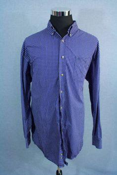 WRANGLER-George-Strait-Collection-Mens-Dress-Shirt-BLUE-Size-2X-LARGE