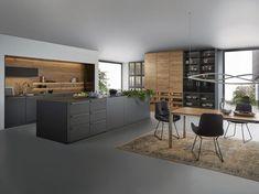 Leicht Küche Bondi Valais, carbongrau alpineiche