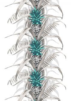 <p>Pina Colada -valmisverhon ananasaiheinen kuosi on Vallilan suunnittelija Saara Kurkelan suunnittelema. Koristellut ananakset sopivat erilaisiin koteihin eiv