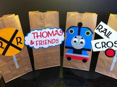 Thomas the Train Party Favor Bags by blissfullybaby on Etsy, $20.00