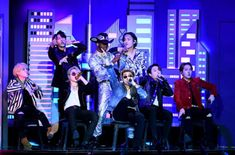 Lil Nas X and BTS perform onstage during the Annual GRAMMY Awards at STAPLES Center on January 2020 in Los Angeles, California. Get premium, high resolution news photos at Getty Images Staples Center, South Korean Boy Band, Korean Boy Bands, Mason Ramsey, World Music Awards, Bts Twt, Steve Aoki, Bulletproof Boy Scouts, Bts Group