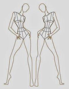 Risultati immagini per figurini moda bianco e nero