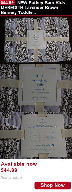 Quilts And Coverlets: New Pottery Barn Kids Meredith Lavender Brown Nursery Toddler Bedding Quilt Baby BUY IT NOW ONLY: $44.99