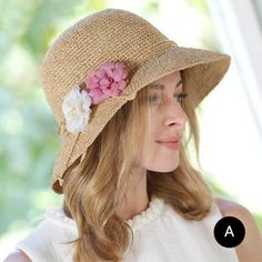 Summer flower straw sun hats for lady package beach hats