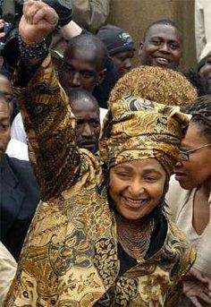 Winnie Mandela - First Black Social Worker in South Africa; Anti-apartheid advocate; Former Leader of the African National Congress, Women's League, Member of the ANC's National Executive Committee; Ex-wife of former South African president