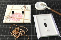 Make designer switch plates and outlet covers   A piece of rainbow