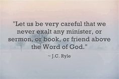 NEVER exalt anyone above the Word of God, even other Christians. Test everything you hear & read by the Bible. If it doesn't match up with what God says, steer clear of it. Biblical Quotes, Bible Verses Quotes, Spiritual Quotes, Faith Quotes, Thy Word, Word Of God, Christian Life, Christian Quotes, 5 Solas