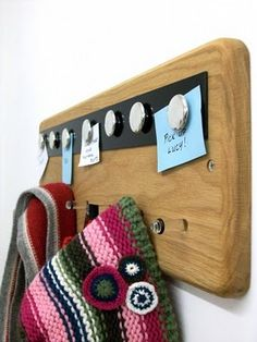Magnetic Notice Board and Coat rack