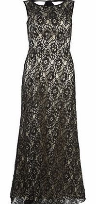 Dorothy Perkins Womens Chi Chi Lace sleeveless maxi dress- Black Lace with cream lining, back bow fastening, slit opening, concealed zip, padded bust. 132cm. 100% Polyamide. hand wash only. http://www.comparestoreprices.co.uk//dorothy-perkins-womens-chi-chi-lace-sleeveless-maxi-dress-black.asp
