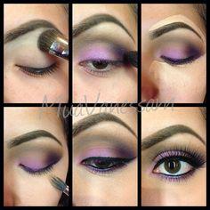 lilac purple makeup tutorial