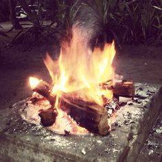 Braai time again in Mozambique #Fire #Flames