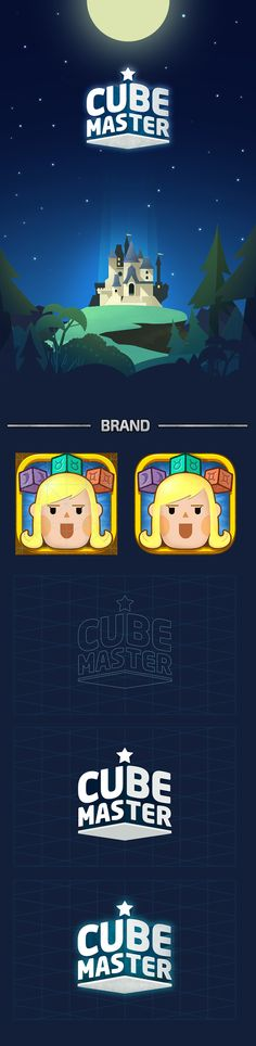 Cube Master Game Design Showcase and discover creative work on the world's leading online platform for creative industries. Ux Design, Game Ui Design, Design Blog, Typo Design, Graphic Design, Mobile Ui, Mobile Game, American Apparel, Illustrator
