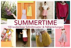 nähen kostenlose schnittmuster anleitungen sommer ideen 100 kleidung für erwachsene frauen damen bekleidung kleider röcke hosen oberteile diymode diy mode