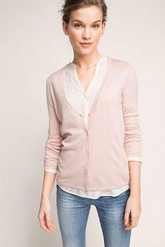 Esprit / basic fine-knit cardigan
