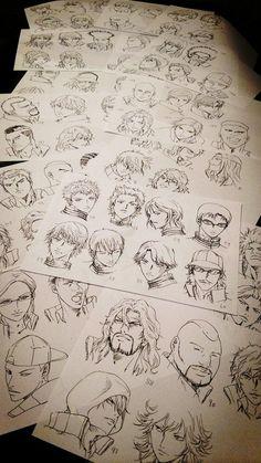 Portraits personnages masculins par konomi takeshi le mangaka de Prince Of Tennis