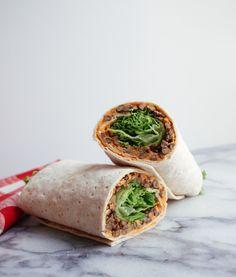 #Vegan Lentil  Sun-Dried Tomato Hummus Wrap