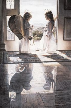 Count Your Blessings, Steve Hanks  I received this as a Christmas card one year. So happy to see it again!