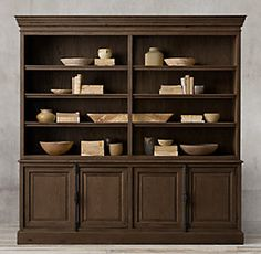 French Panel Sideboard & Open Hutch, on sale for 3050 60s Furniture, Chicago Furniture, Furniture Logo, Steel Furniture, French Furniture, Cheap Furniture, Discount Furniture, Kitchen Furniture, Rustic Furniture
