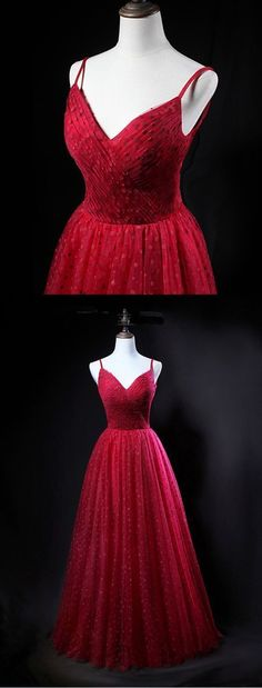 Unique red tulle V neck spaghetti long evening dress, party dress, Shop plus-sized prom dresses for curvy figures and plus-size party dresses. Ball gowns for prom in plus sizes and short plus-sized prom dresses for Gold Prom Dresses, Prom Dresses For Sale, Prom Party Dresses, Dresses Uk, Dress Party, Evening Dresses, Bridesmaid Dresses, Formal Dresses, Sexy Dresses
