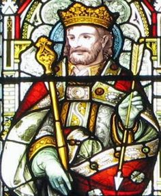 Saint of the Day – November 20 – St Edmund the Martyr- Patron of various kings, pandemics, torture victims and wolves, the Roman Catholic diocese of East Anglia, the English county of Suffolk, Douai Abbey, Toulouse – Death: 869 #pinterest Martyred king of the East Angles. He was elected king in 855 at the age of fourteen and began ruling Suffolk, England, the following year. In 869 or 870, the Danes....................| Awestruck Catholic Social Network