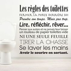 Discover recipes, home ideas, style inspiration and other ideas to try. Bathroom Wallpaper, Home Wallpaper, Deco Originale, French Quotes, Design Seeds, Printable Quotes, Organizer, Wall Stickers, Decoration