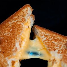 The cheesier the better! Classic Melt from the Grilled Cheese Truck