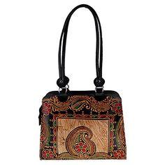 Beautiful Ethnic Handmade Multi Color Embroidered Camel Leather Sling shoulder Bag
