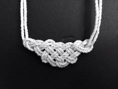Nautical / Western Rope Knot Necklace by AlexBullArt on Etsy