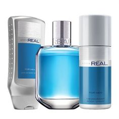 Set Avon Real Avon Perfume, Perfume Bottles, Shampoo, Personal Care, Fragrance, Personal Hygiene